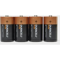 Duracell Plus D Batteries (4 Pack), Black/Orange
