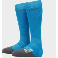 SALOMON SOCKS Men's Max Ski Socks, Blue/Grey
