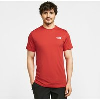 The North Face Mens Simple Dome T-Shirt, Red