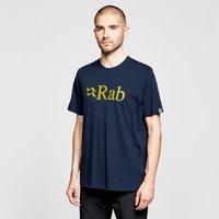 Rab Mens Stance Logo Short Sleeved T-shirt  Navy Blue
