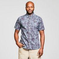 Weird Fish Mens Thomkins Hawaiian Print Shirt, NVY/NVY