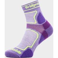 Bridgedale Women's Ultra Light T2 COOLMAX Sport Low Socks, Purple
