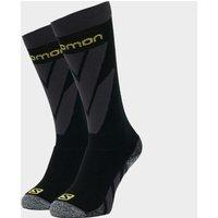 SALOMON SOCKS Men's Access Skiing Socks (2 Pack), Black/Yellow