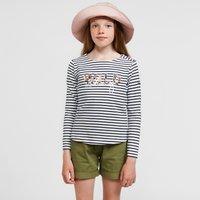 Regatta Kids Carmella II Long Sleeve T-Shirt, Navy Blue