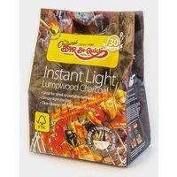 BAR BE QUICK Instant Light Lumpwood Charcoal 1kg, No Colour