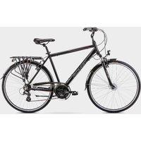 Romet Men's Track 1 Hybrid Bike - Black-Black, Black-Black