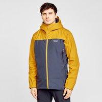 Rab Men's Arc Eco Waterproof Jacket, Yellow/Navy
