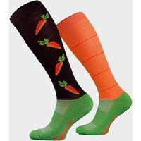 Comodo Adults Novelty Fun Socks Carrots - Orange, Orange