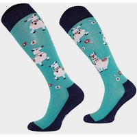 COMODO Kids Novelty Lama Socks, Blue