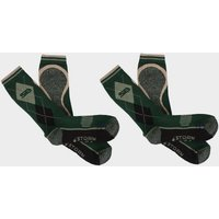 Storm Bloc Mens Hayesmere Short Socks 2 Pack - Green, Green