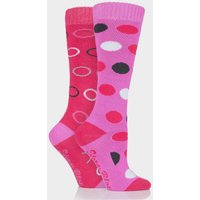Storm Bloc Beverly Midweight Socks 2 Pack - Pink, Pink