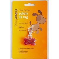 Petface Outdoor Paws Bone Id Safety Tag - Red, Red