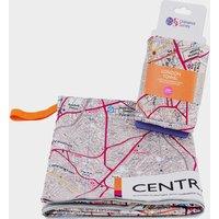 Ordnance Survey Central London Large Travel Towel, White