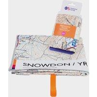 Ordnance Survey Snowdon Large Travel Towel, White