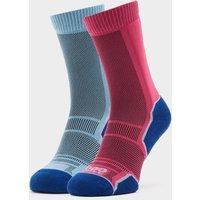 1000 MILE Women's Trek Socks 2 Pack, Blue/Purple