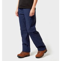 Brasher Womens Zip Off Stretch Trousers, Navy Blue/Navy Blue