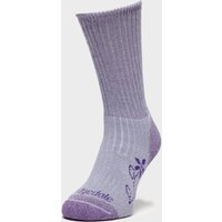 Bridgedale Women's Hike Midweight Merino Comfort Boot Socks, Purple/PUR
