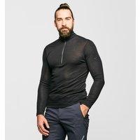 Icebreaker Men's 175 Everyday Long Sleeve Half Zip, Black/Black