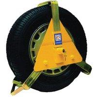 "Maypole Wheel Clamp for 10-14"" wheels, YELLOW/10-14"