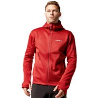 BERGHAUS Men's Pravitale MTN 2.0 Hooded Jacket, Red/BRD