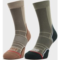 1000 MILE Men's Trek Socks Twin Pack, MUL/MUL