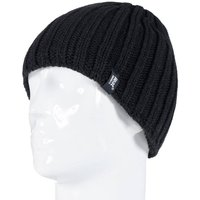 Heat Holders Men's Chunky Rib Hat, Black