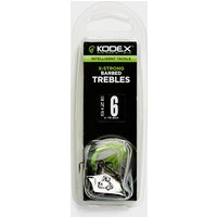 30 Plus X-Strong Barbed Trebles Hooks, NOCOLOUR/PK