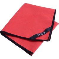 OEX Microfibre Trekking Hand Towel, RED/TOWEL