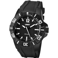 Limit 200m Analogue Watch, BLACK/WATCH