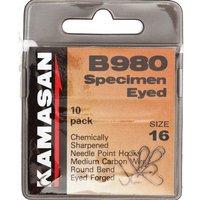 Kamasan Kamasan B980 Specimen Eyed Hooks Barbed Size 2 10p, NOCOLOUR/10PK