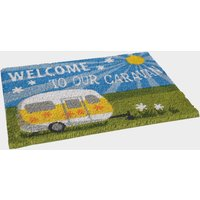 Quest Heavy Duty Welcome To Our Caravan Mat, NOCOLOUR/GREEN