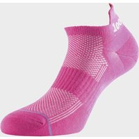 1000 MILE Ultimate Tactel Men's Trainer Liner Sock, HOT PINK/WOME