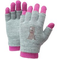 HI-GEAR Kids' Patch Pup 2 in 1 Gloves, TEABERRY/GLOVE