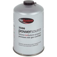 GOGas PowerSource Butane/Propane Mix Gas Cartridge (445g, GREY/GAS