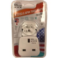 Boyz Toys 2pk Travel Adaptor - UK to USA & Japan, White