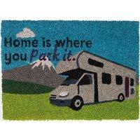 Quest Heavy Duty Coir 'Home is where you park it' Mat, NOCOLOUR/HOME