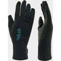 Rab Womens Power Stretch Contact Grip Gloves  Black