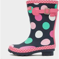 COTSWOLD Multicoloured Dotty Jnr Pull On Wellington Boots, MULTI/KIDS
