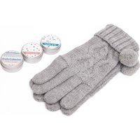 Handy Heroes Knitted Gloves and Lip Balm Gift Set, GREY/SE