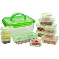 HI-GEAR 13 Piece Compact Food Storage Set, GREEN/BO