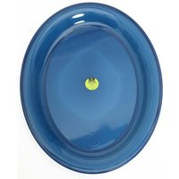 AIRGO Deluxe Large Plastic Plate, BRIGHT BLUE/PLAT
