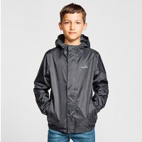 FREEDOMTRAIL Kids' Stowaway Waterproof Jacket, Black