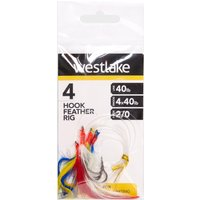 Westlake 4 HOOK FEATHER RIG 2, NO COLOUR/0