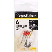 Westlake 6 HOOK COD FEATHER 3, NO COLOUR/0
