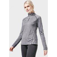 BERGHAUS Women's Voyager Half Zip Tech Tee, Grey/Grey