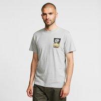 Weird Fish Mens Battered Artist T-Shirt, Grey