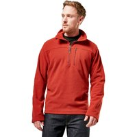 Brasher Mens Fountains Half Zip Mid-layer  Red