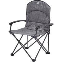 HI-GEAR Tirano Folding Chair, GRY/GRY