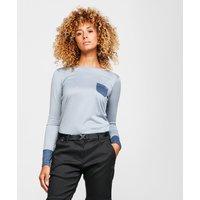 Berghaus Women's Explorer Long Sleeve Crew T-Shirt, Grey