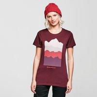 Black Diamond Womens Vista T-shirt  Burgundy